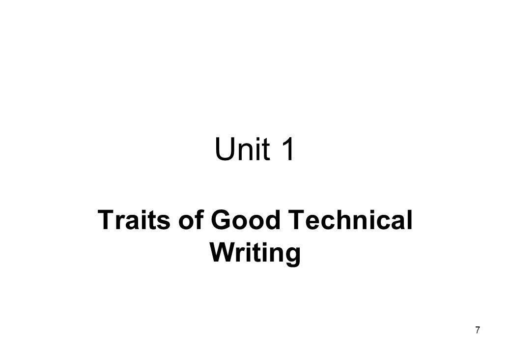 Traits of Good Technical Writing