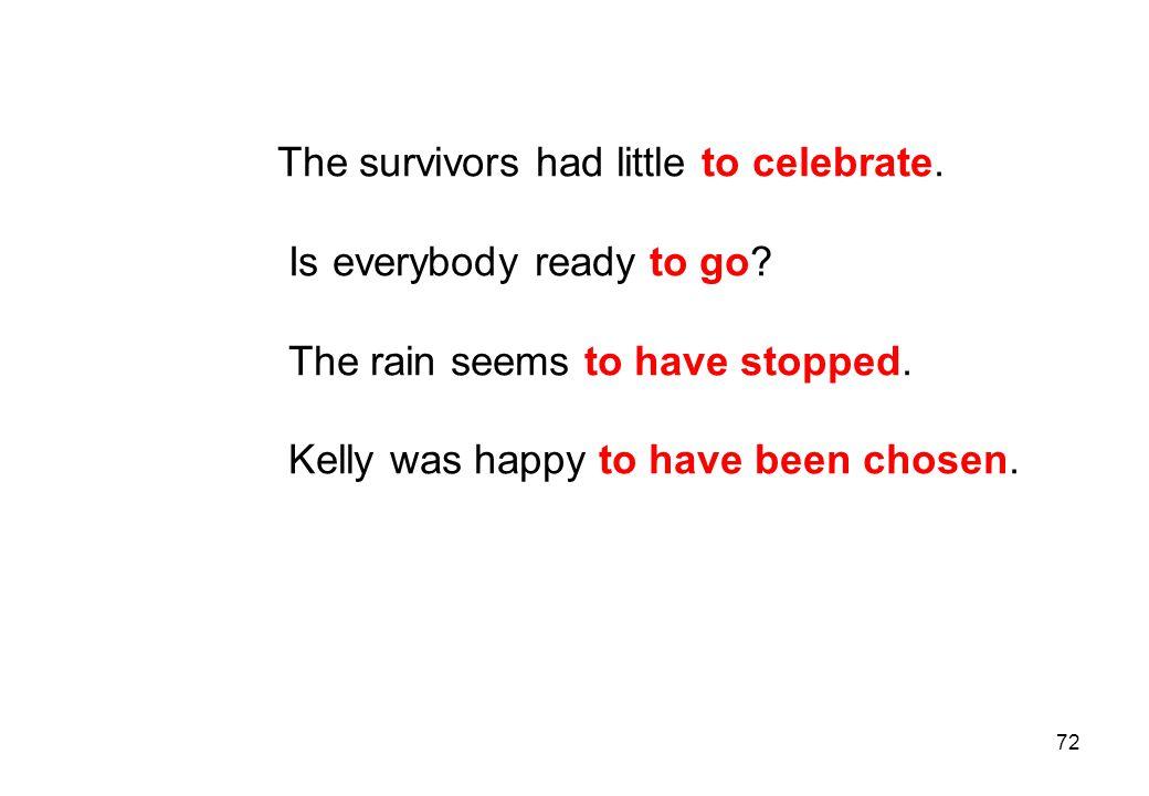 The survivors had little to celebrate.