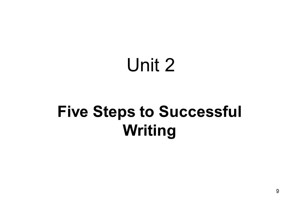 Five Steps to Successful Writing