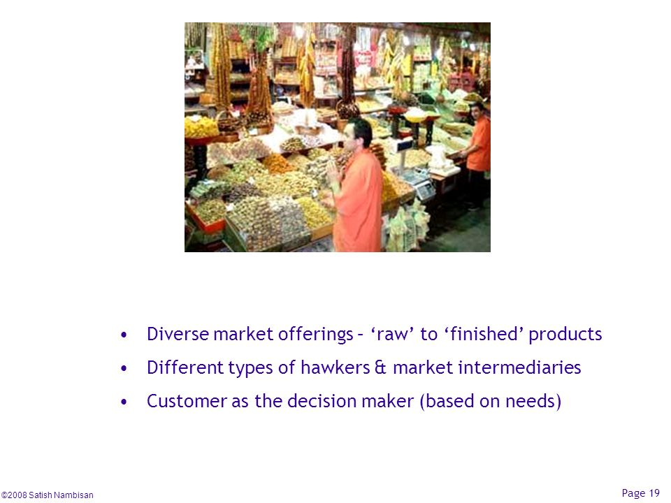 Diverse market offerings – 'raw' to 'finished' products