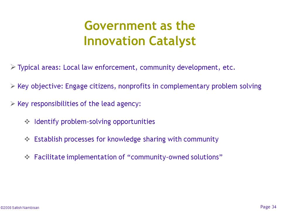 Government as the Innovation Catalyst