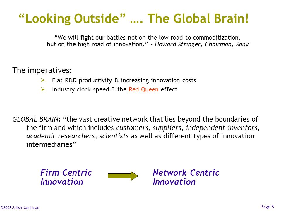 Looking Outside …. The Global Brain!