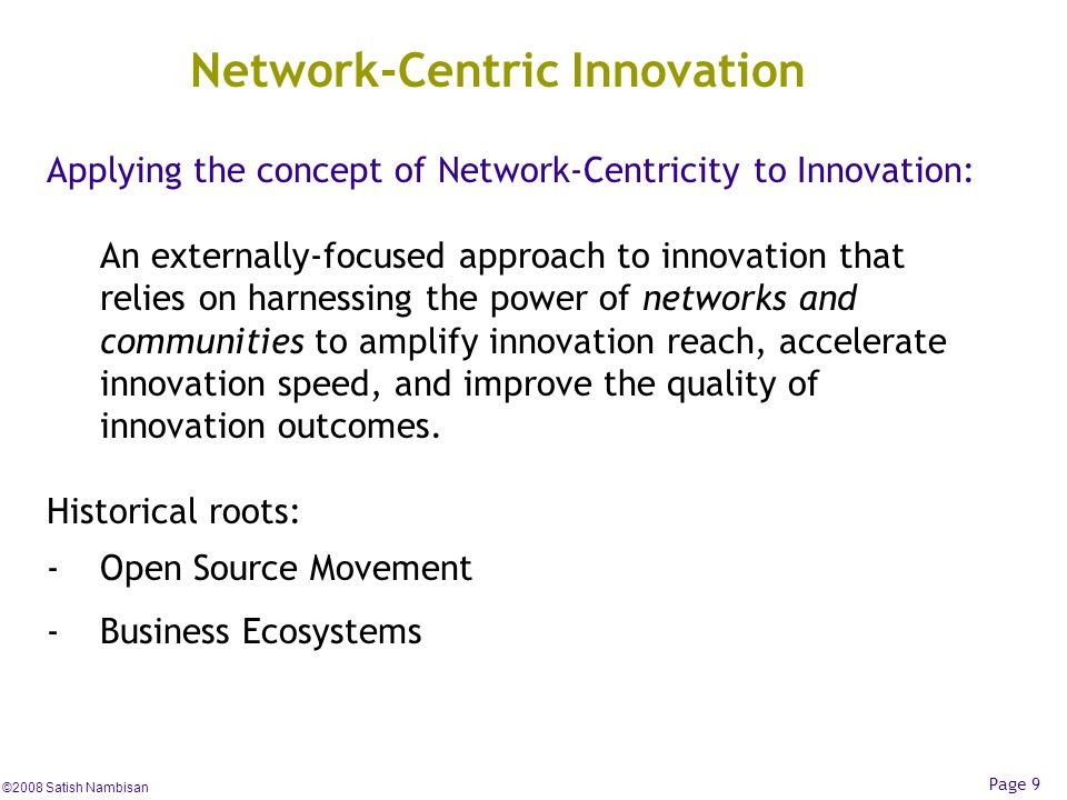 Network-Centric Innovation