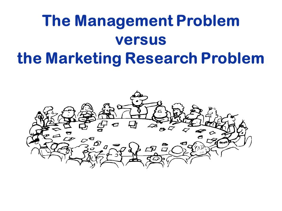 The Management Problem the Marketing Research Problem