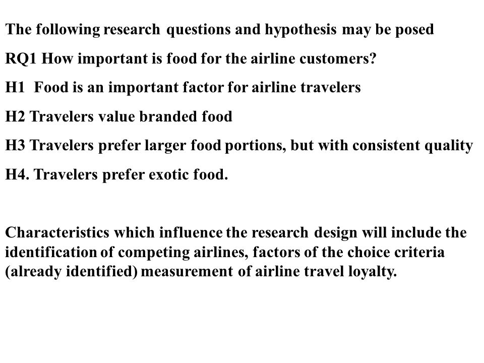 The following research questions and hypothesis may be posed
