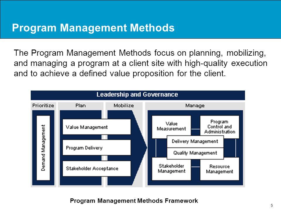 Program Management Methods