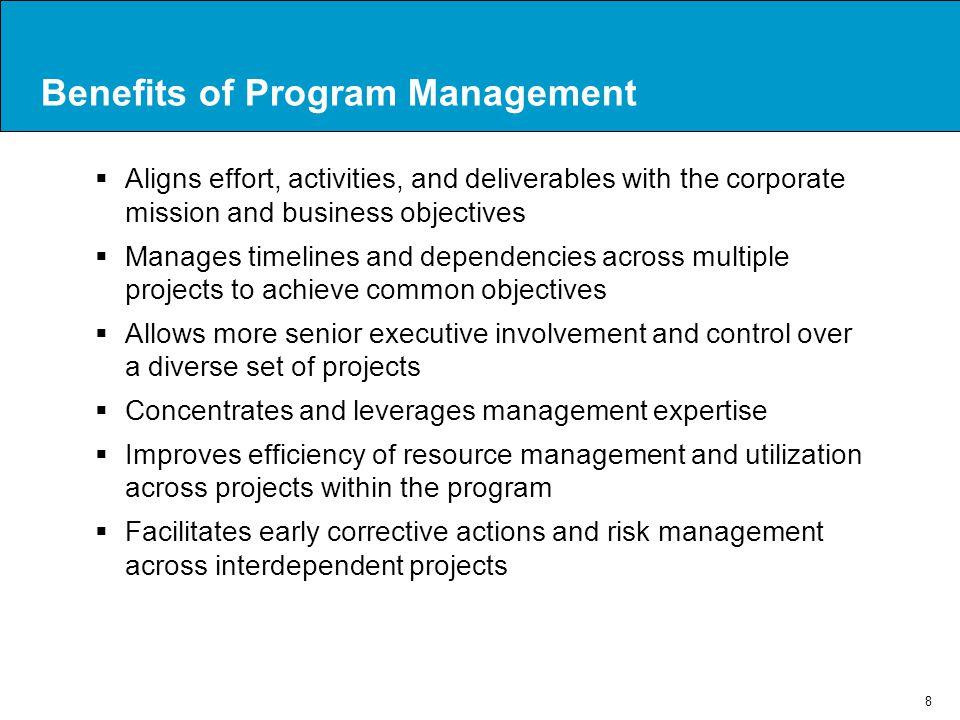 Benefits of Program Management