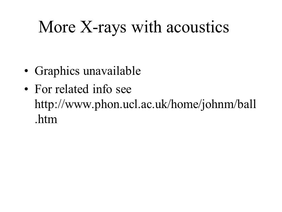 More X-rays with acoustics