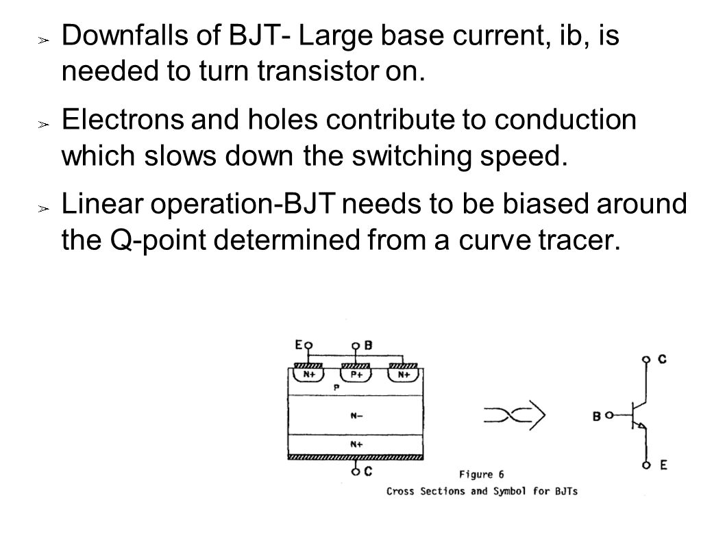 Mosfet metal oxide semiconductor field effect transistor ppt downfalls of bjt large base current ib is needed to turn transistor on buycottarizona Image collections