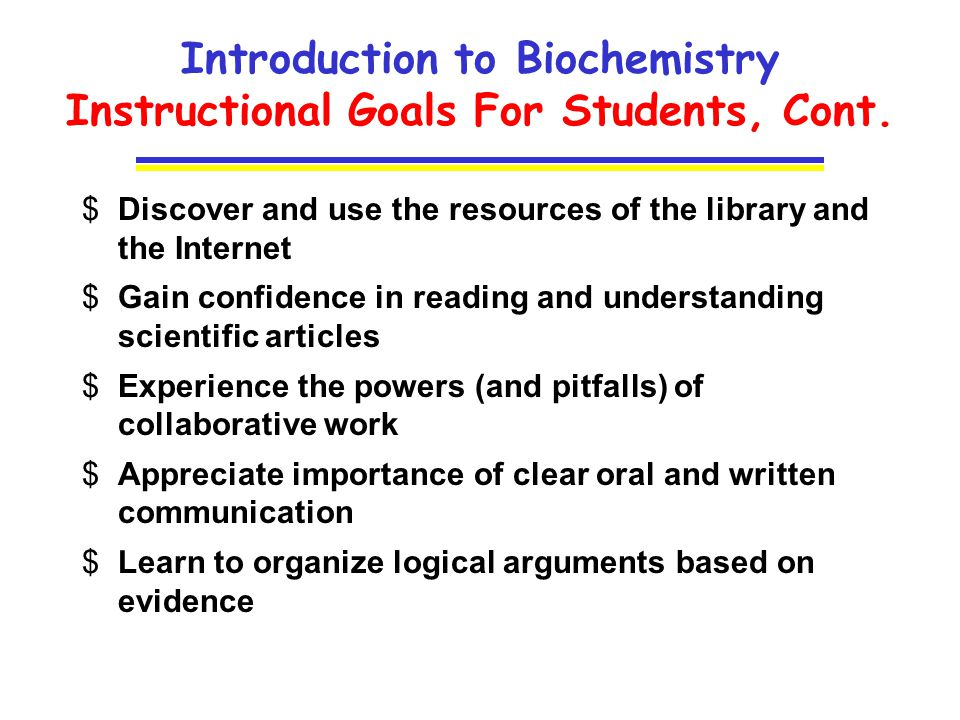 chem introduction to biochemistry ppt video online  introduction to biochemistry instructional goals for students cont