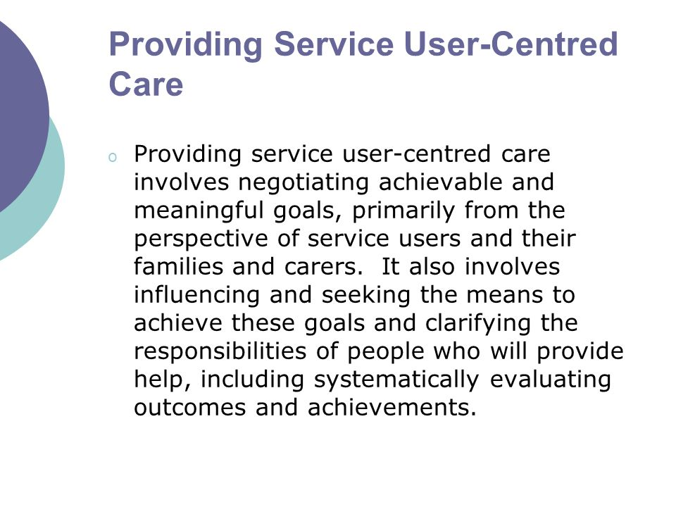 from a service users perspective critically Clinicians' and practice team perspectives on continuity the gp practices we  visited  that privileges service users' perspectives on continuity, exploring their   treatment, and are critical of being given conflicting or inconsistent  information.