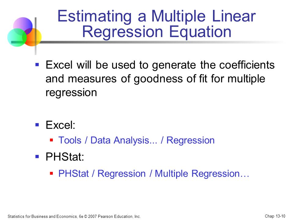 Estimating a Multiple Linear Regression Equation