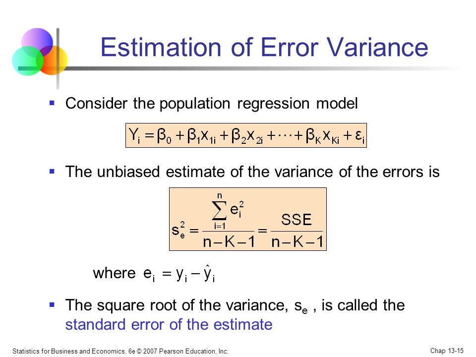 Estimation of Error Variance