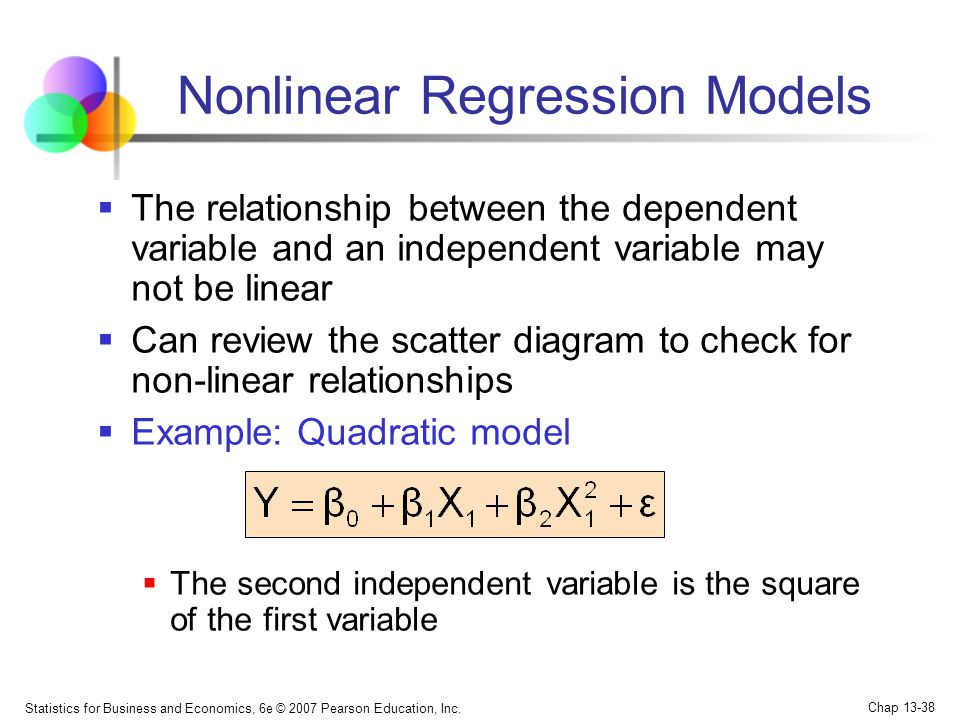 Nonlinear Regression Models