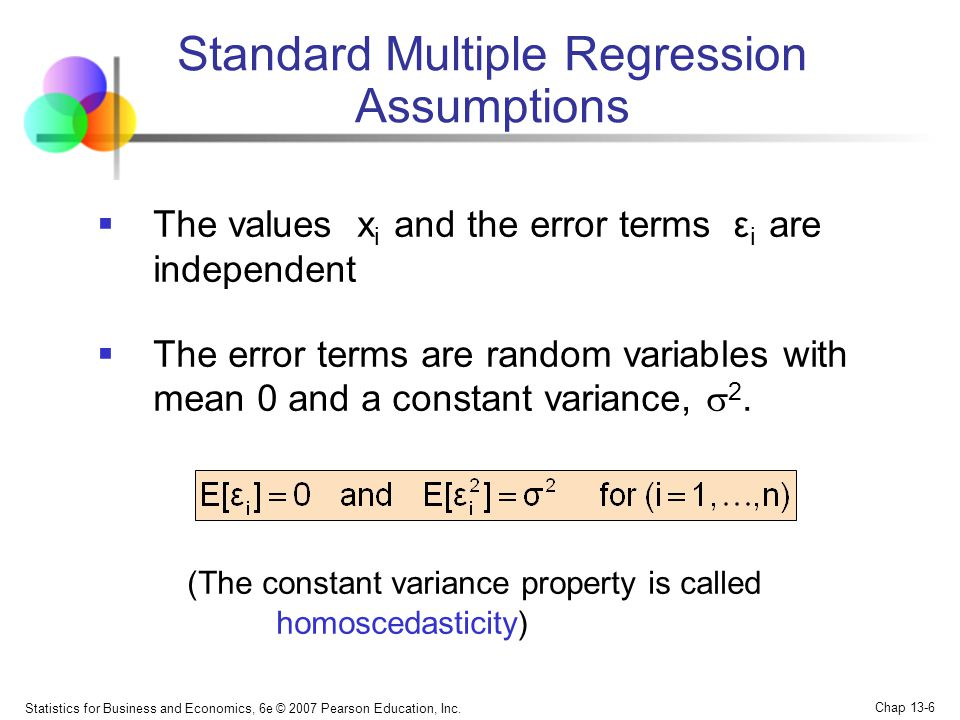 Standard Multiple Regression Assumptions