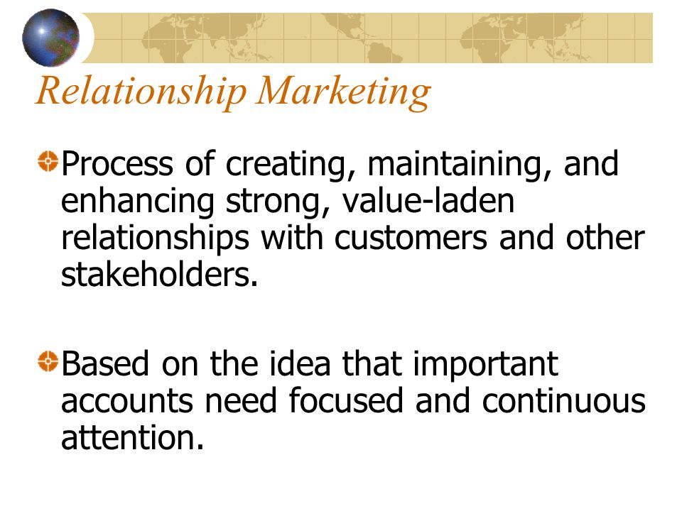 the importance of customer focused relationship marketing examples