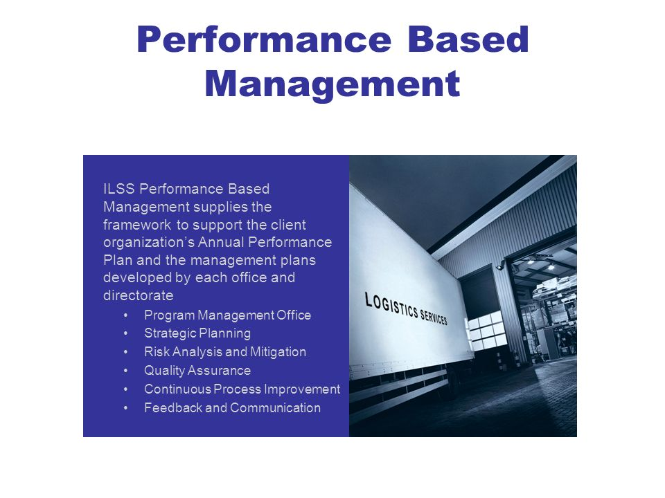 Performance Based Management