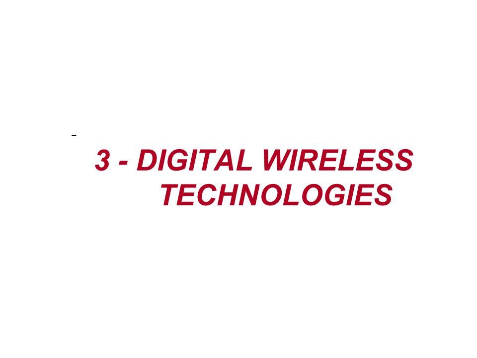 3 - DIGITAL WIRELESS TECHNOLOGIES