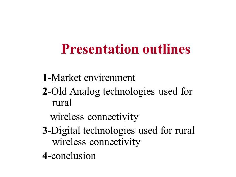 Presentation outlines