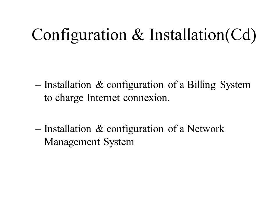 Configuration & Installation(Cd)