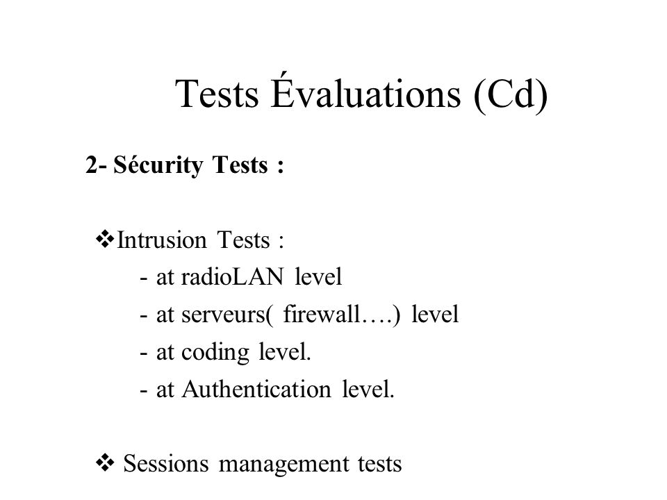 Tests Évaluations (Cd)