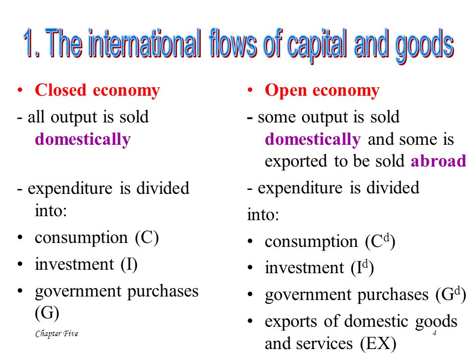 1. The international flows of capital and goods