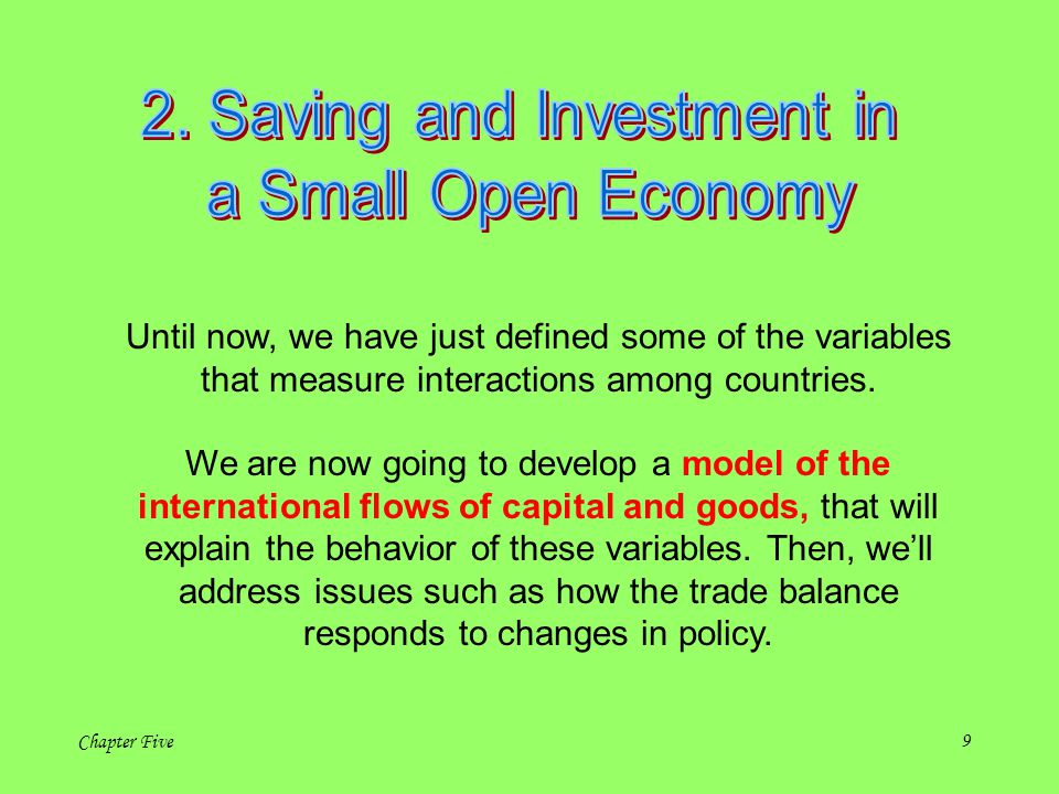 2. Saving and Investment in