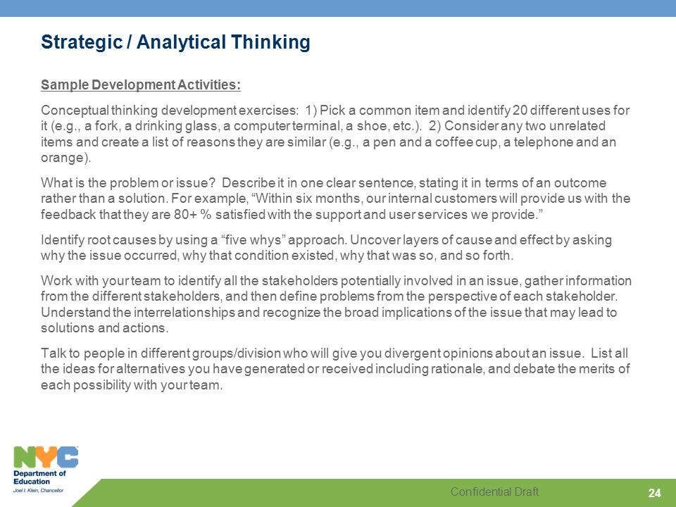 analytical thinking example