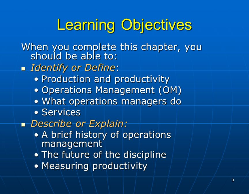 Operations management schroeder chapters 1 3