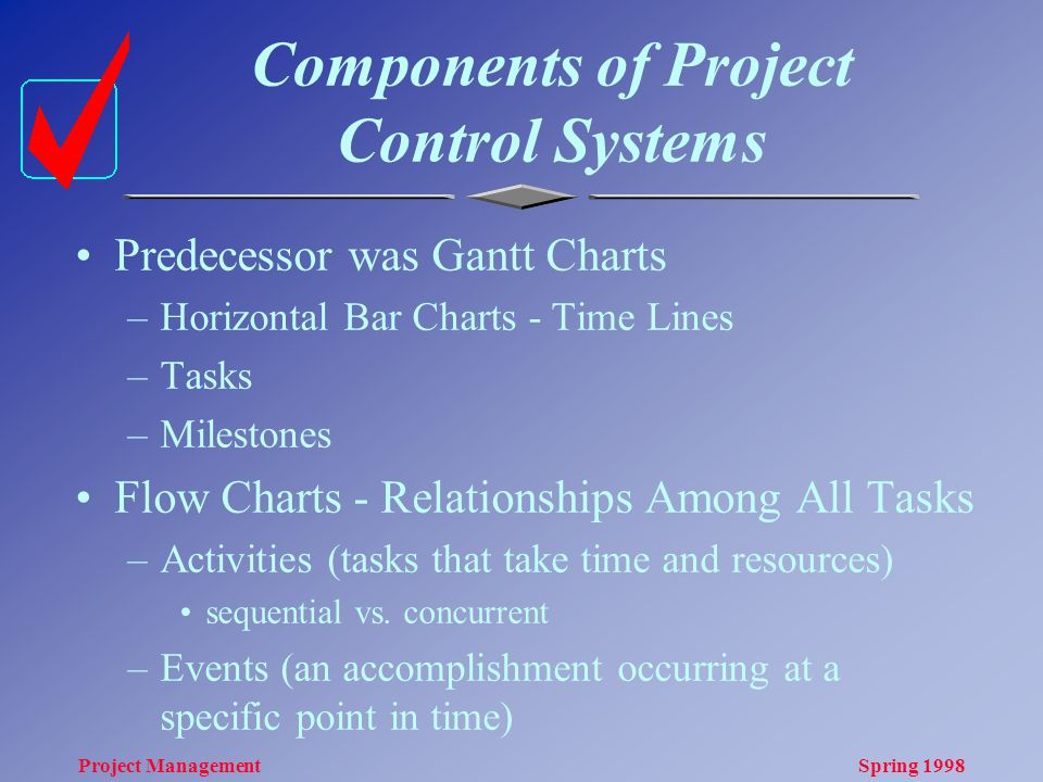 research and define pert cpm and gantt relative to project planning scheduling and control Answer to primary task response: within the discussion board area,  research and define pert, cpm, and gantt relative to project planning, scheduling, and control.