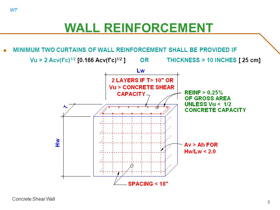 Concrete Wall Design Example Markcastroco