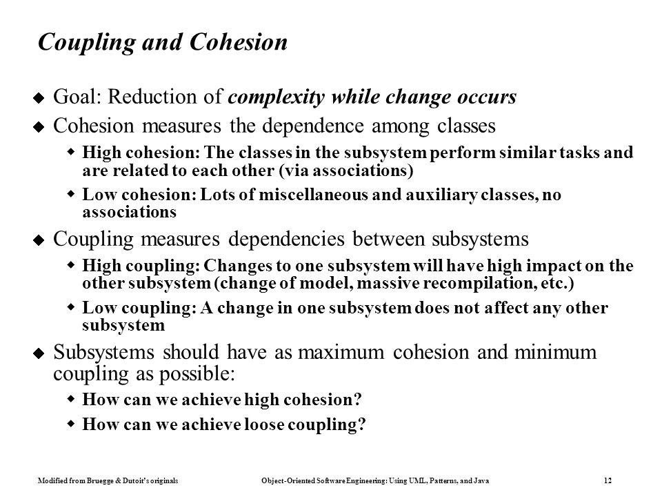 Difference Between Coupling And Cohesion In Software