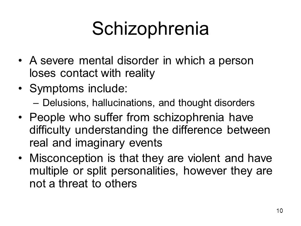 the characteristics and symptoms of schizophrenia a mental disorder Schizophrenia is a disease of the brain but it causes many mental problems the  root cause of this disease is not known but bad genes seem to be a hot favorite.