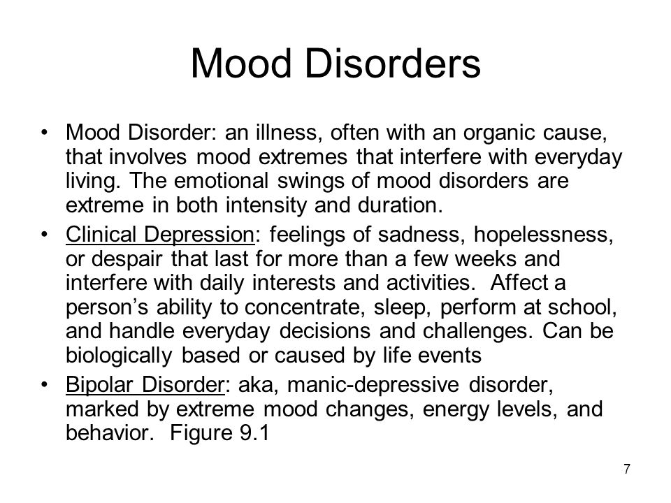 mood based disorders depressive and bipolar disorders Rogers offers specialized dialectical behavior therapy (dbt) outpatient services for adults and adolescents with a primary diagnosis of depression and mood disorders, an anxiety disorder, chronic suicidality, or disorders related to severe and persistent emotional dysregulation.