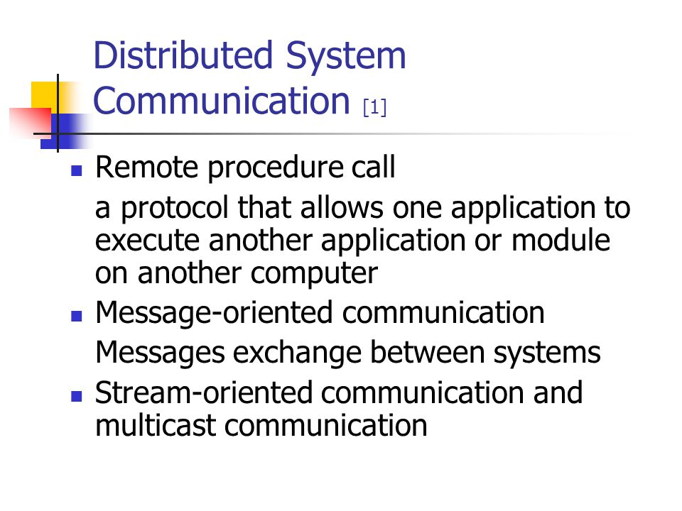 Distributed System Communication [1]