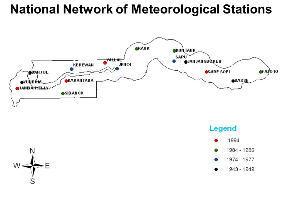 National Network of Meteorological Stations