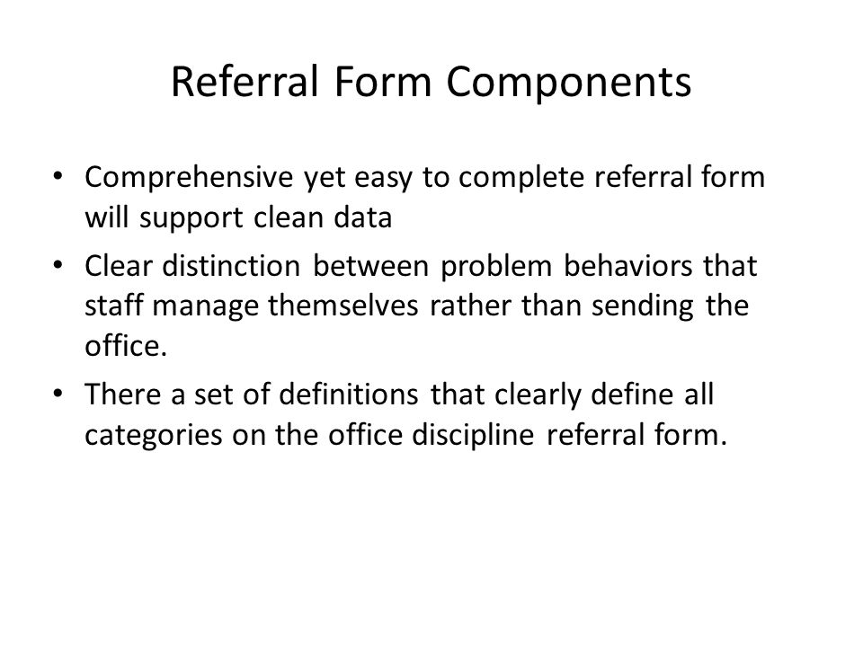 Referral Form Components