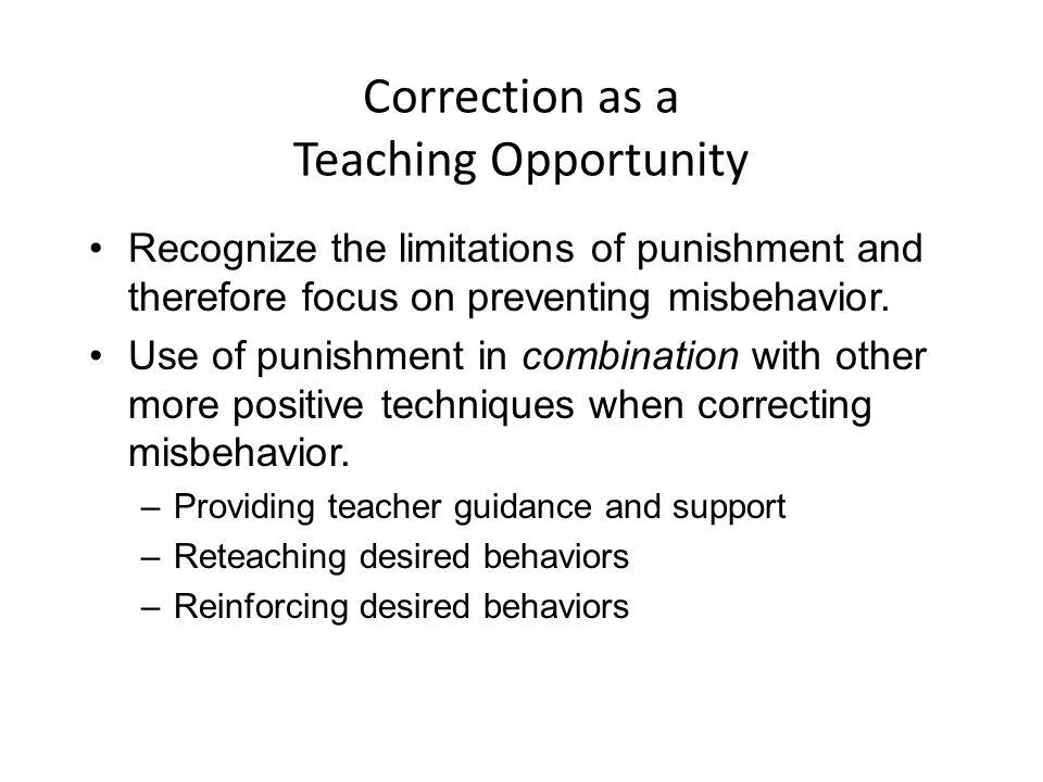 Correction as a Teaching Opportunity