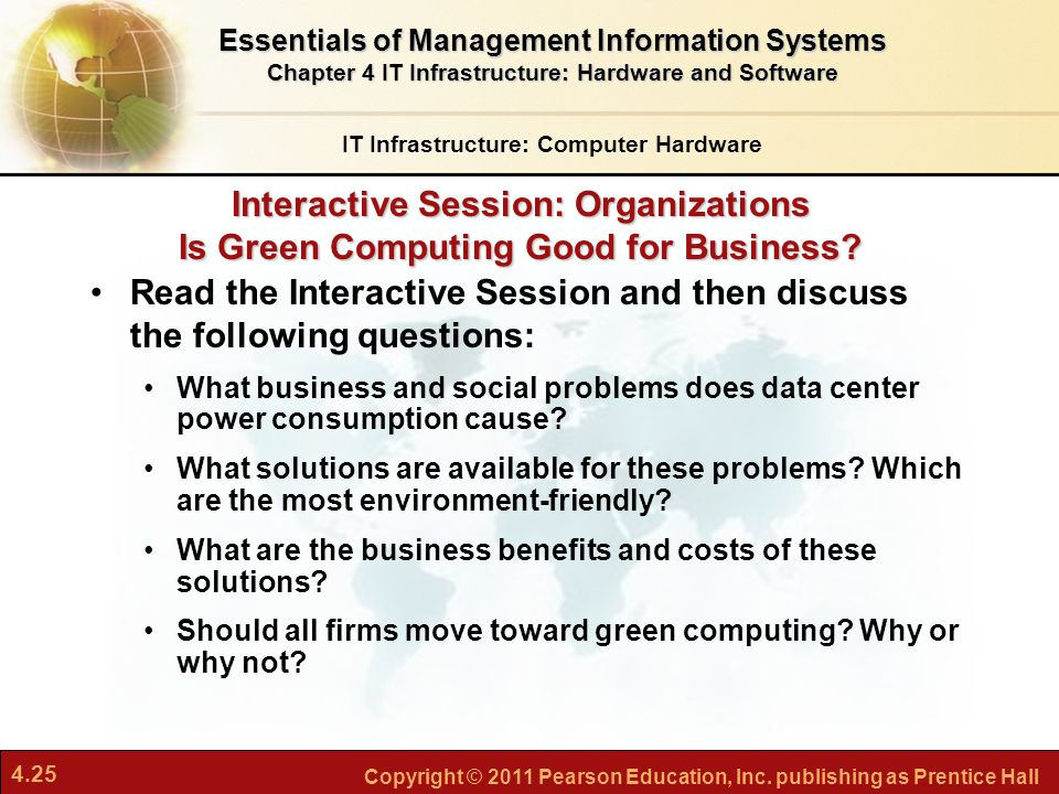 interactive session organizations is green computing good for business Outline • what is green computing • roads to green computing • origins •  why  green guidelines for computer users • interactive session 5  barriers  faced by organizations • many companies use default pc power.