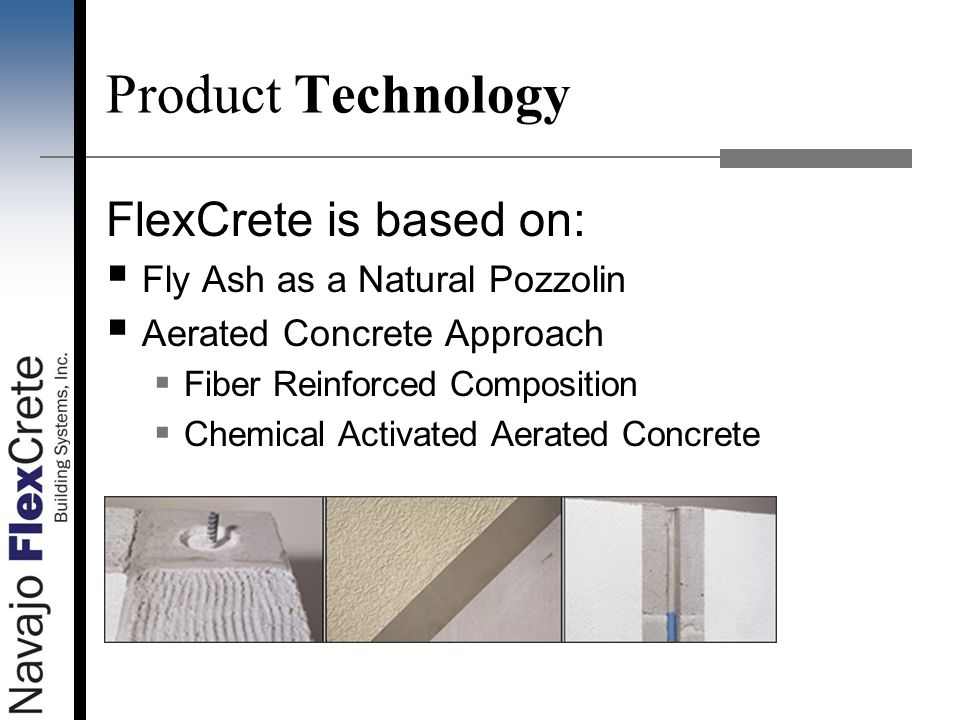 Product Technology FlexCrete is based on: