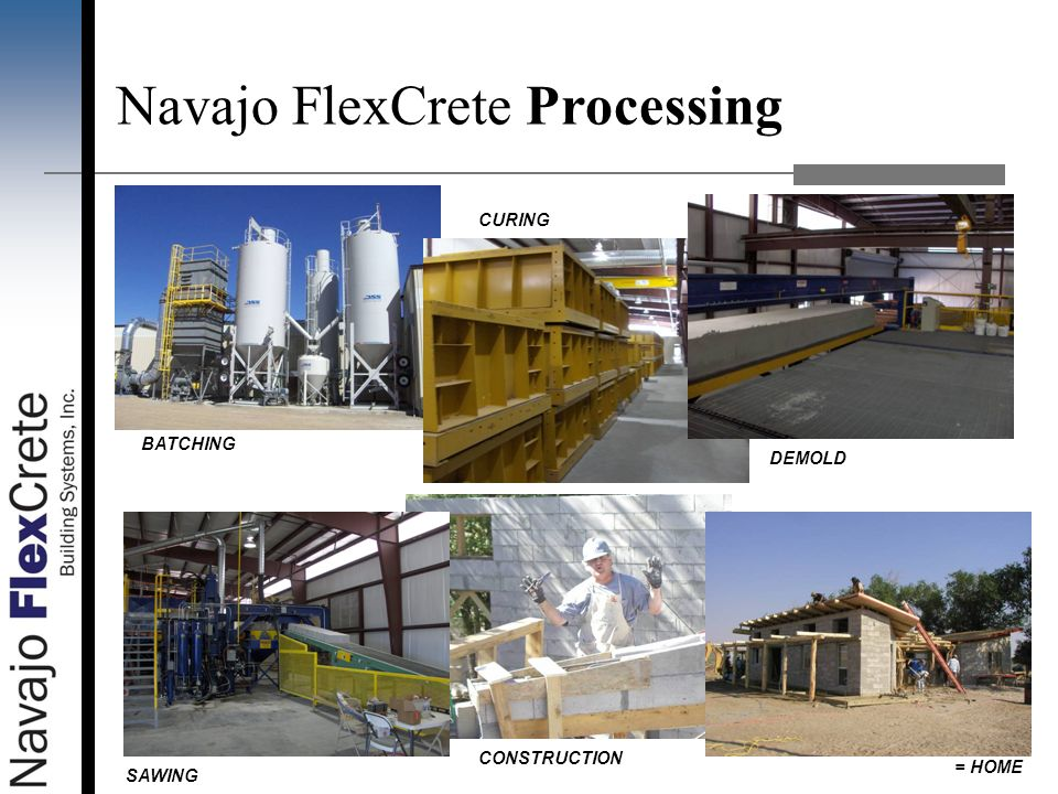 Navajo FlexCrete Processing