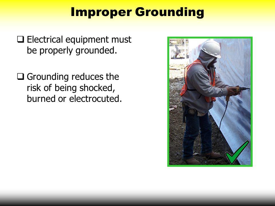 Big Four Construction Hazards Electrical Hazards Ppt