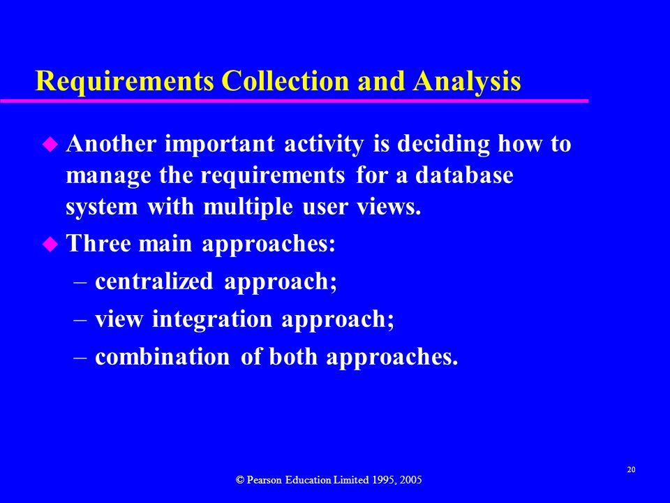 Requirements Collection and Analysis