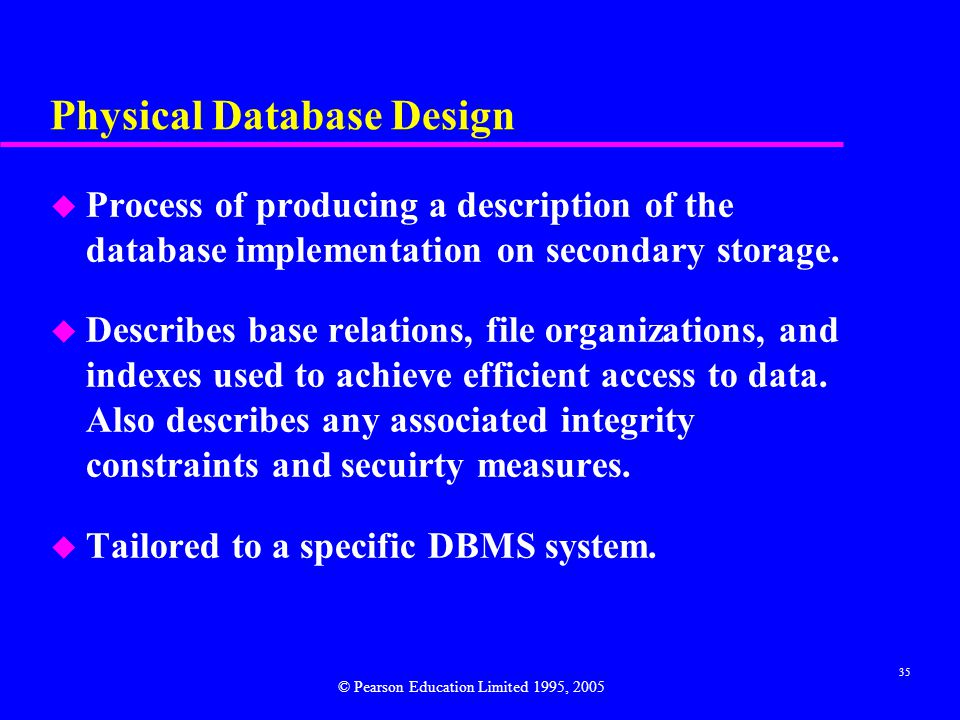 Physical Database Design
