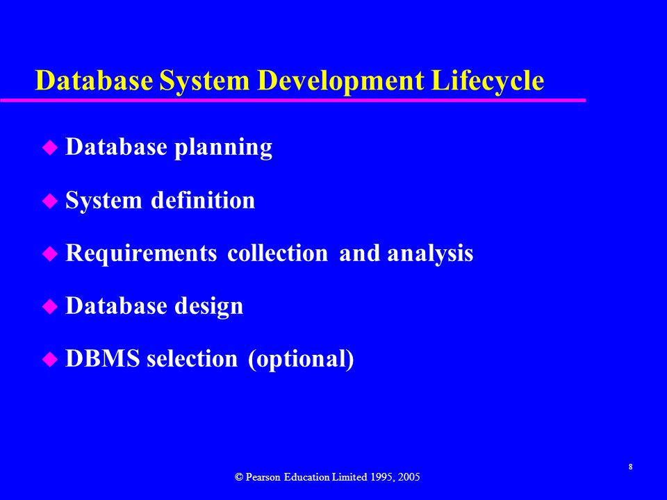 Database System Development Lifecycle