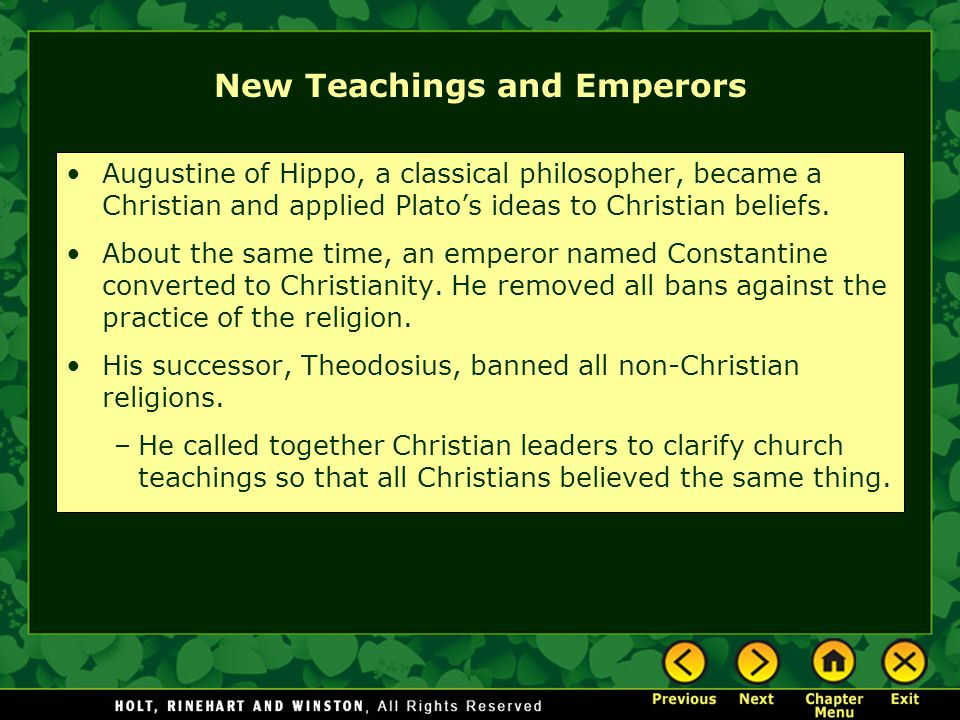 New Teachings and Emperors