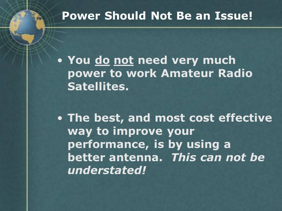 Power Should Not Be an Issue!