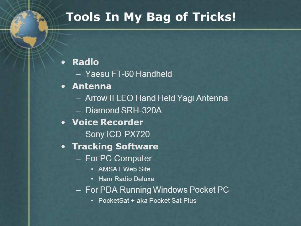 Tools In My Bag of Tricks!