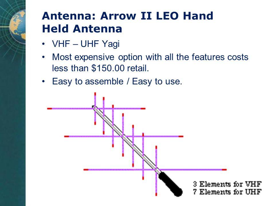 Antenna: Arrow II LEO Hand Held Antenna
