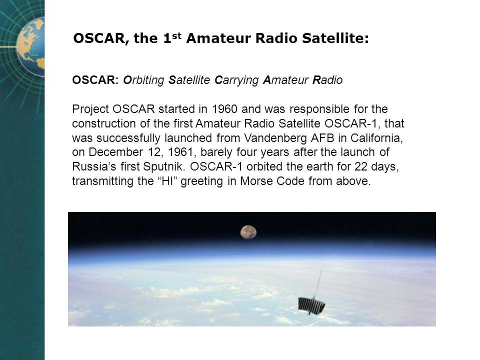 OSCAR, the 1st Amateur Radio Satellite: